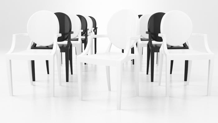 3d модель стула