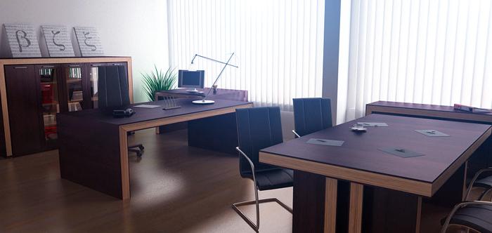 3d интерьер офиса