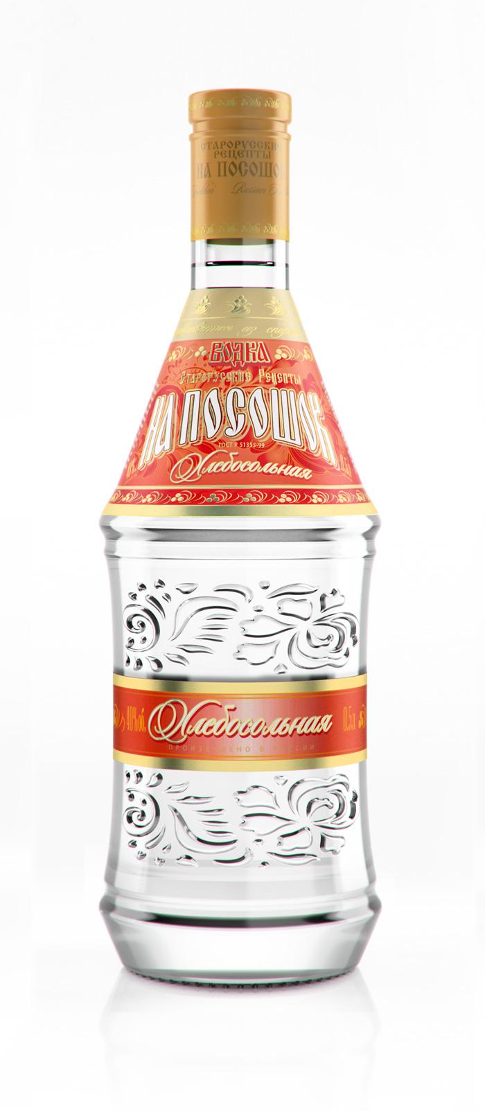 3d визуализация бутылки водки