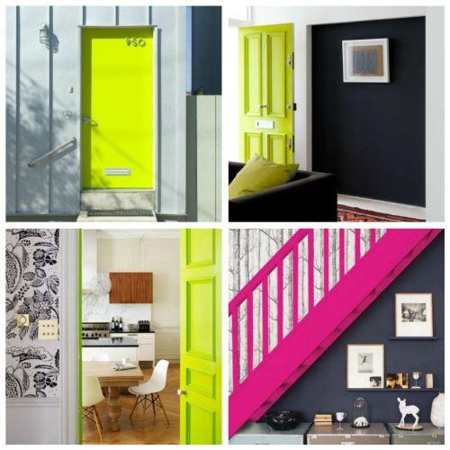 Неоновые цвета в дизайне интерьера