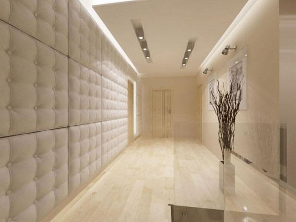 Натуральная кожа, металл и камни для украшения стен