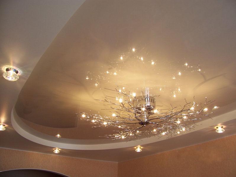 Шедевры дизайнерского творчества при отделке потолков