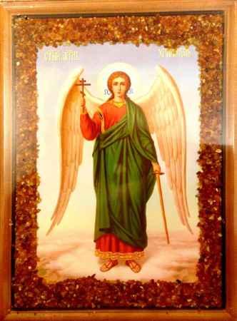 Купить Икона янтарная 23х33см Ангел Хранитель КЯН-2-215