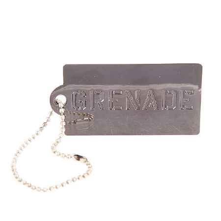 Купить Брелок Grenade Key Chain Tag Silver
