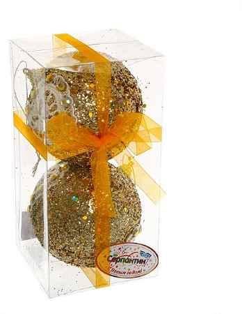Купить Серпантин Кружево золото Сердечко A100386G10