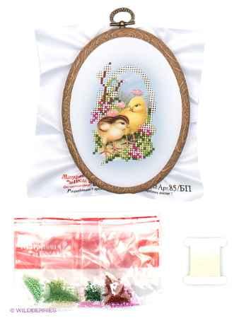 Купить Матренин Посад Набор для вышивания с бисером и пяльцами