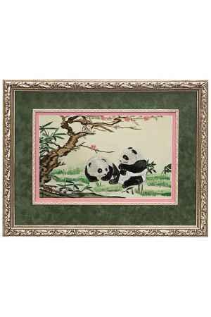 Купить Живой шелк Молодые панды Живой шелк 280413М67-3 МУЛЬТИКОЛОР
