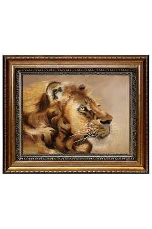 Купить Живой шелк Голова льва Живой шелк 1010512М168 МУЛЬТИКОЛОР