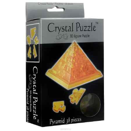 Купить Crystal Puzzle Пирамида, цвет: желтый. Объемный 3D-пазл, 38 элементов