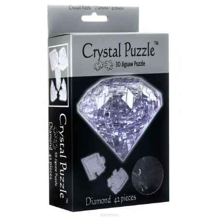 Купить Crystal Puzzle Бриллиант, цвет: прозрачный. Объемный 3D-пазл, 42 элемента