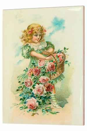 Купить Glambers Картина Девочка с корзиной роз Glambers GLA-081520 МУЛЬТИКОЛОР