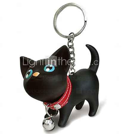 Купить Брелок, в форме черного кота