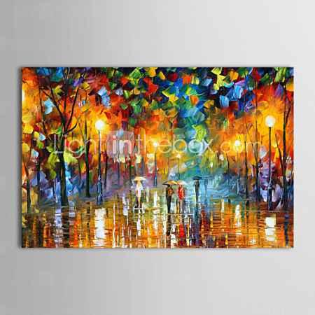 Купить Картина маслом, ручной росписи, «Дождливый Вечер»