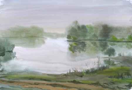 """Купить Картина """"Утро на озере"""""""