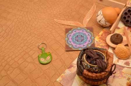 Купить Брелок для ключей. Коллекция Socotra (Зеленый; кожа)