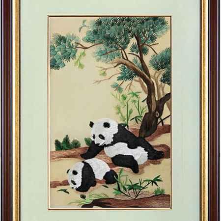 Купить Живой шелк Панды на лесной опушке Живой шелк 280413М166 МУЛЬТИКОЛОР