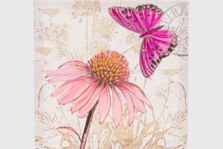 Купить Hoff Репродукция 40х40 см Цветок и бабочка