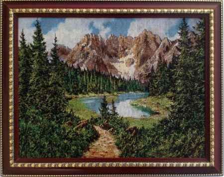 Купить Картина гобелен Горное озеро кгб-2009-рдт