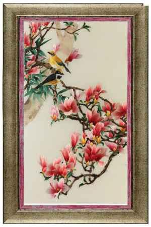 Купить Живой шелк На цветущей магнолии Живой шелк 1280413М160 МУЛЬТИКОЛОР