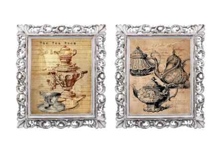 """Купить Набор репродукций старинных картин в раме """"Чайная церемония"""" (2 шт)"""