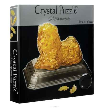 Купить Crystal Puzzle Лев, цвет: желтый. Объемный 3D-пазл, 97 элементов
