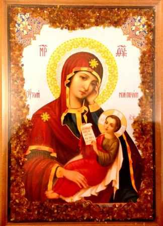 Купить Икона янтарная Утоли мои печали КЯН-2-210