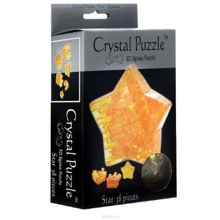 Купить Crystal Puzzle Звезда, цвет: желтый. Объемный 3D-пазл, 38 элементов