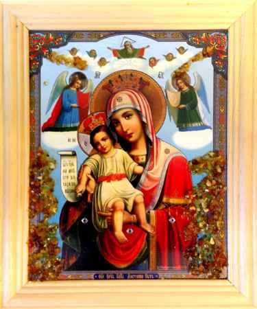 Купить Икона янтарная Милующая / Достойно Есть КЯН-2-311