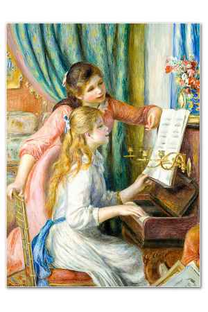Купить Glambers Репродукция Девочки за пианино Glambers GLA-081549 МУЛЬТИКОЛОР