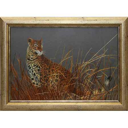 Купить Живой шелк Леопард в камышах Живой шелк 100308М68 МУЛЬТИКОЛОР