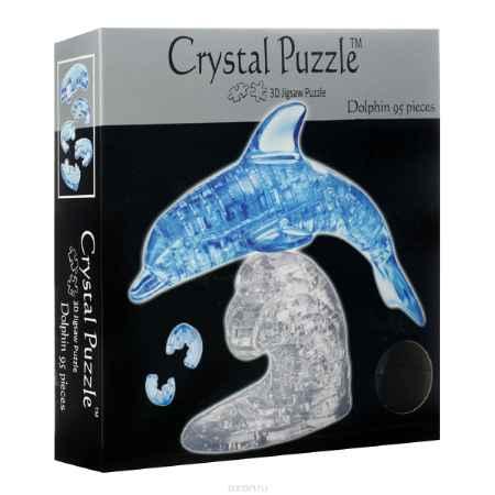 Купить Crystal Puzzle Дельфин, цвет: голубой, прозрачный. Объемный 3D-пазл, 95 элементов