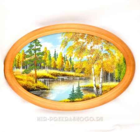 Купить Картина деревянная с каменной крошкой Осень кд-212