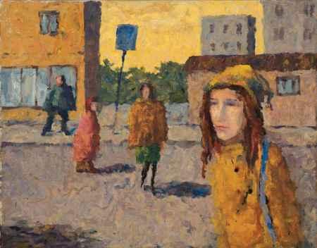 """Купить Картина """"Улица, пешеходы"""""""