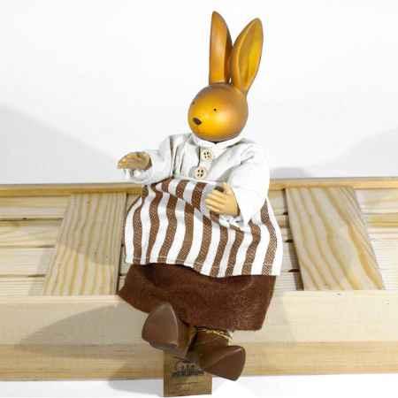 Купить Сувенир ручной работы «Зайцы толстячки»