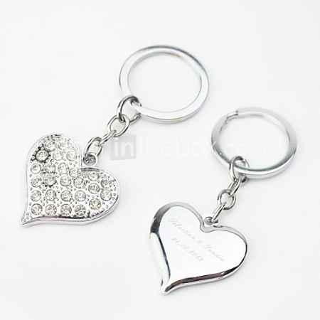 Купить персонализированных ключей дизайна сердце горного хрусталя (набор из 4)