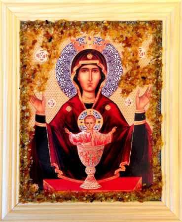 Купить Икона янтарная Неупиваемая Чаша иян-2-313