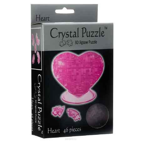 Купить Crystal Puzzle Сердце, цвет: розовый. Объемный 3D-пазл, 46 элементов