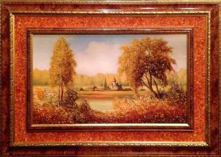 """Купить Картина янтарная большая """"Волшебный Край"""""""