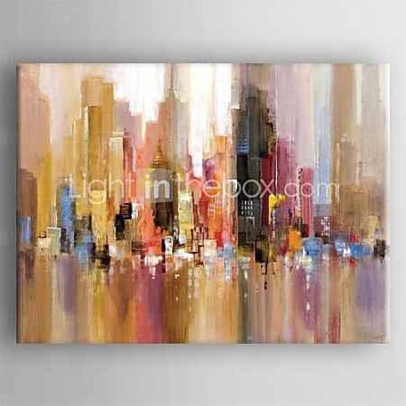 Купить картина маслом современный абстрактный пейзаж ручной росписью холст с растянутой оформлена