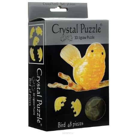 Купить Crystal Puzzle Птичка, цвет: желтый. Объемный 3D-пазл, 48 элементов