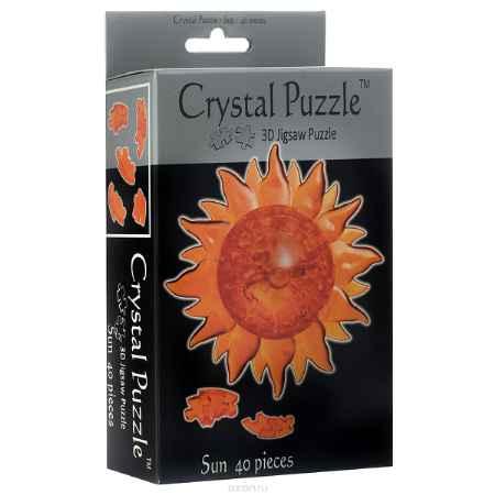 Купить Crystal Puzzle Солнце, цвет: оранжевый. Объемный 3D-пазл, 40 элементов