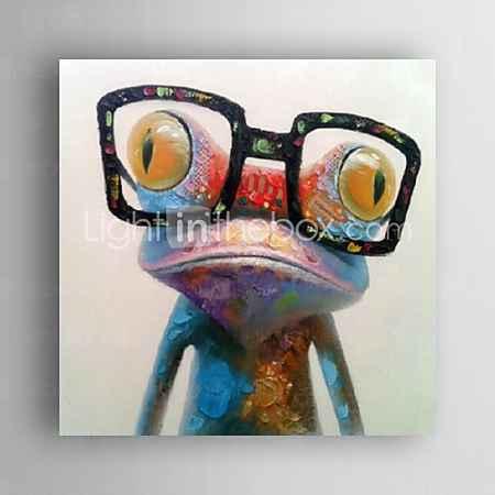 Купить Картина маслом современного абстрактного лягушка ручной росписью холст с strecthed кадра