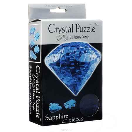 Купить Crystal Puzzle Сапфир, цвет: синий. Объемный 3D-пазл, 41 элемент