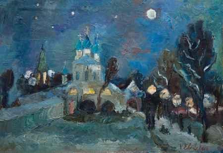 """Купить Картина """"Рождественская ночь в Коломенском"""""""