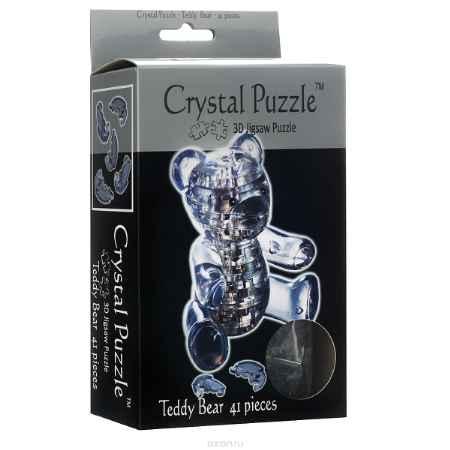 Купить Crystal Puzzle Мишка Teddy, цвет: синий. Объемный 3D-пазл, 41 элемент