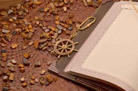 Купить Брелок для ключей. Коллекция Socotra (Штурвал, золотой; металл)