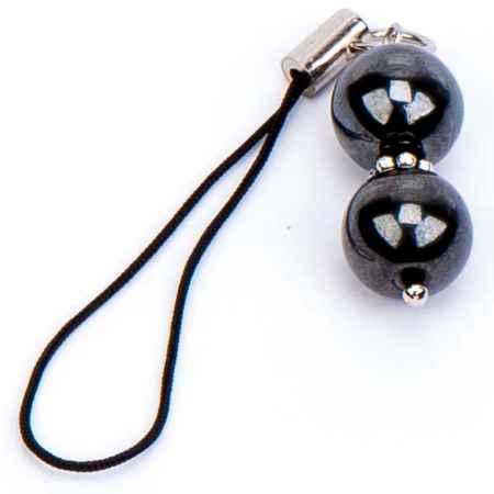 Купить Бусики-Колечки Брелок для телефона гематит