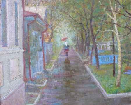 "Купить Картина ""Весенний дождь"""