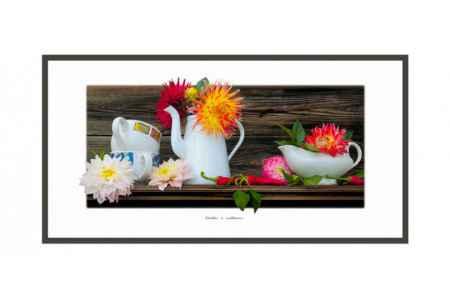 Купить Hoff Постер 60х30 см Натюрморт Георгины и перец
