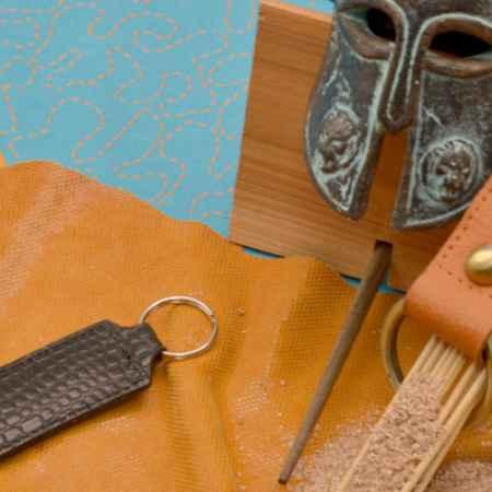 Купить Брелок для ключей. Коллекция Amelie (Черный; крокодил; нат. кожа)